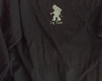 Norwegian Troll Shirt Jeg Tror navy Blue adult