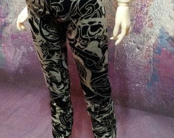 MARKDOWN 60cm SD/SD13 Crazy Swirls Leggings Pants BJD