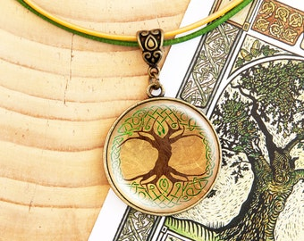 Celtic Tree of Life - Leather Necklace