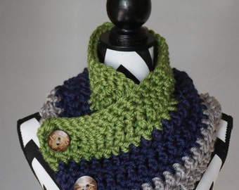 Seahawks 3 Button Cowl / Scarf