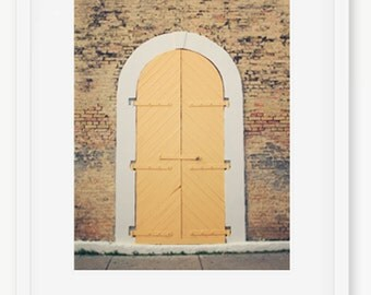 Door Photography, Yellow Doors, Yellow Door, Brick Exterior, Architecture Photography, Door Print, Door Photography Print, St Thomas Art