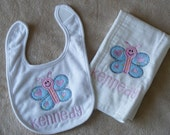 Personalized Bib and Burp Cloth Create-a-combo for boys or girls