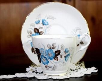Royal Ascot, Floral Teacup, Tea Cup and Saucer, English Bone China 13847
