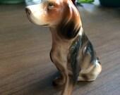 Dog Figurine Hound Dog Beagle Vintage Collectible Porcelain Japan Decorative Dog