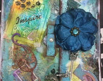 Mixed media tablet case; fits all iPads and similar sized tablets