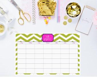 Custom Rewritable Laminated Desk Calendar Blotter