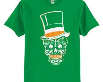 St Pattys Day Sugar Skull Shirt