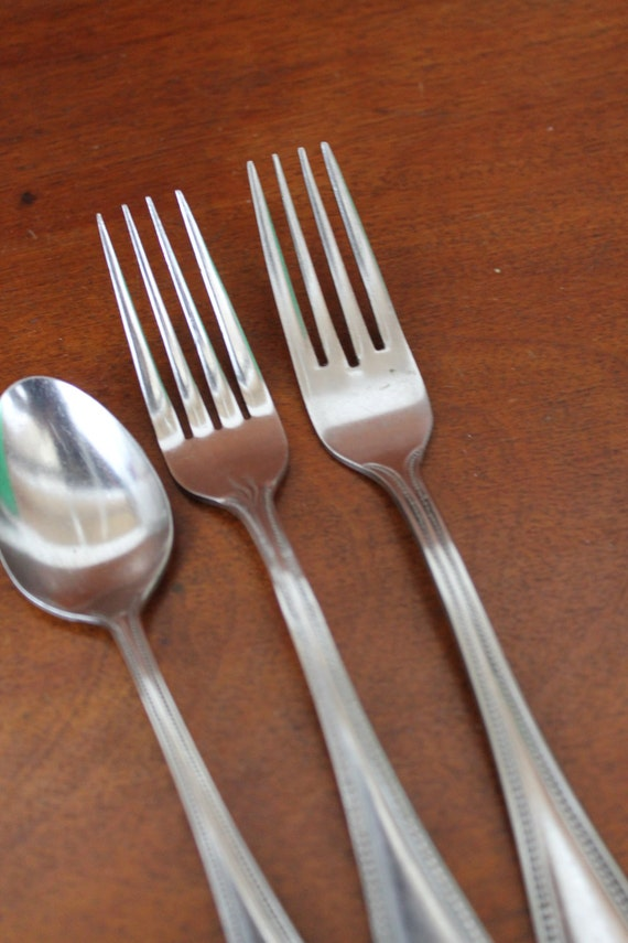 Beaded Silverware From Rebacraft And Oxford Hall Stainless