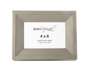 4x6 Haven picture frame - Gray Green