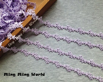 Venice Lace Trim - 3.5 yards Little Purple Flower Lace Trim (L485)