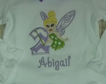 Purple Chevron Fairy Birthday outfit with ruffle shirt, ruffle pants and bow