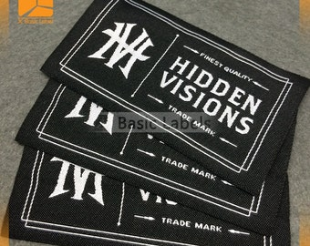 600 custom clothing labels, Woven Clothing Labels, custom woven labels  ( Artwork , Logo with letter )