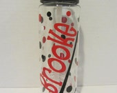 Personalized water bottle - field hockey or other sport - NEW - many designs - mix and match - clear plastic, BPA free with flip top