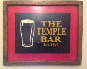 Custom Irish Pub Primitive Sign