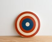 Target Circle Art Block - Red/White/Blue, Captain America shield, archery target, bull's eye, colorway #20