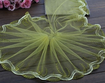 2 Yards Lace Trim  Embroidered Tulle Lace Trim 7.87 Inches Wide High Quality