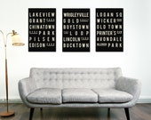 CHICAGO Art, City Poster, Subway Sign Print, Wall Art, Black and White, Typographic Art, Modern Home Decor, Holiday Gift Guide, Minimalist