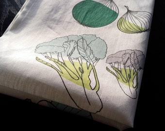 Linen tea towel, kitchen towel, linen towel, easter, spring, bright towel, vegetables towel