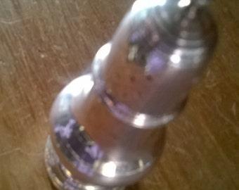 Vintage English EPNS silver plated fancy peppar salt spice shaker circa 1930's / English Shop