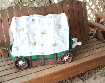 Oregon trail covered wagon bed set for 18in American girl dolls