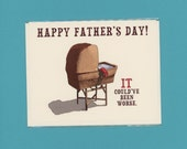 IT'S ALIVE Father's Day Card - Funny Father's Day Card - It's Alive - Funny Dad Card - Father's Day Card -It Could've Been Worse - Item F025