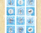 Frozen Olaf Cupcake toppers, Instant download, Frozen printable, do you want to build a snowman, 2 inch circle, Frozen birthday, Elsa, Anna