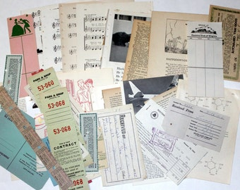 Grab Bag - 40 Piece Vintage Ephemera Collage Kit