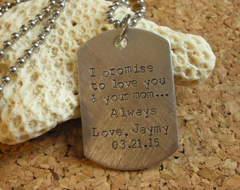 Wedding Gift Ideas Blended Family : ... Gift from Groom-Blended Family Gift-Dogtags for Wedding-Personalized