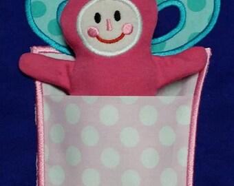 In the Hoop Elf in the Gift Pocket Applique Design