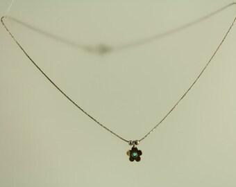 Vintage Opal Flower Pendant Sterling Silver Necklace Studio Gallery (ET345 )