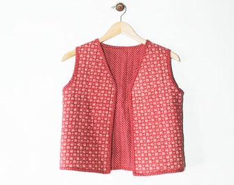 Vintage 70s Reversible Quilted Vest