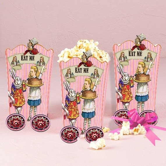 Alice in Wonderland Popcorn Boxes