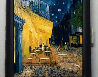 Vincent Van Gogh Café Terrace Metal Cigarette Case or Wallet No. 37