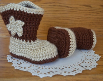 Crochet Cowboy Boots-Baby Booties- Baby shower- Infant cowboy boots.