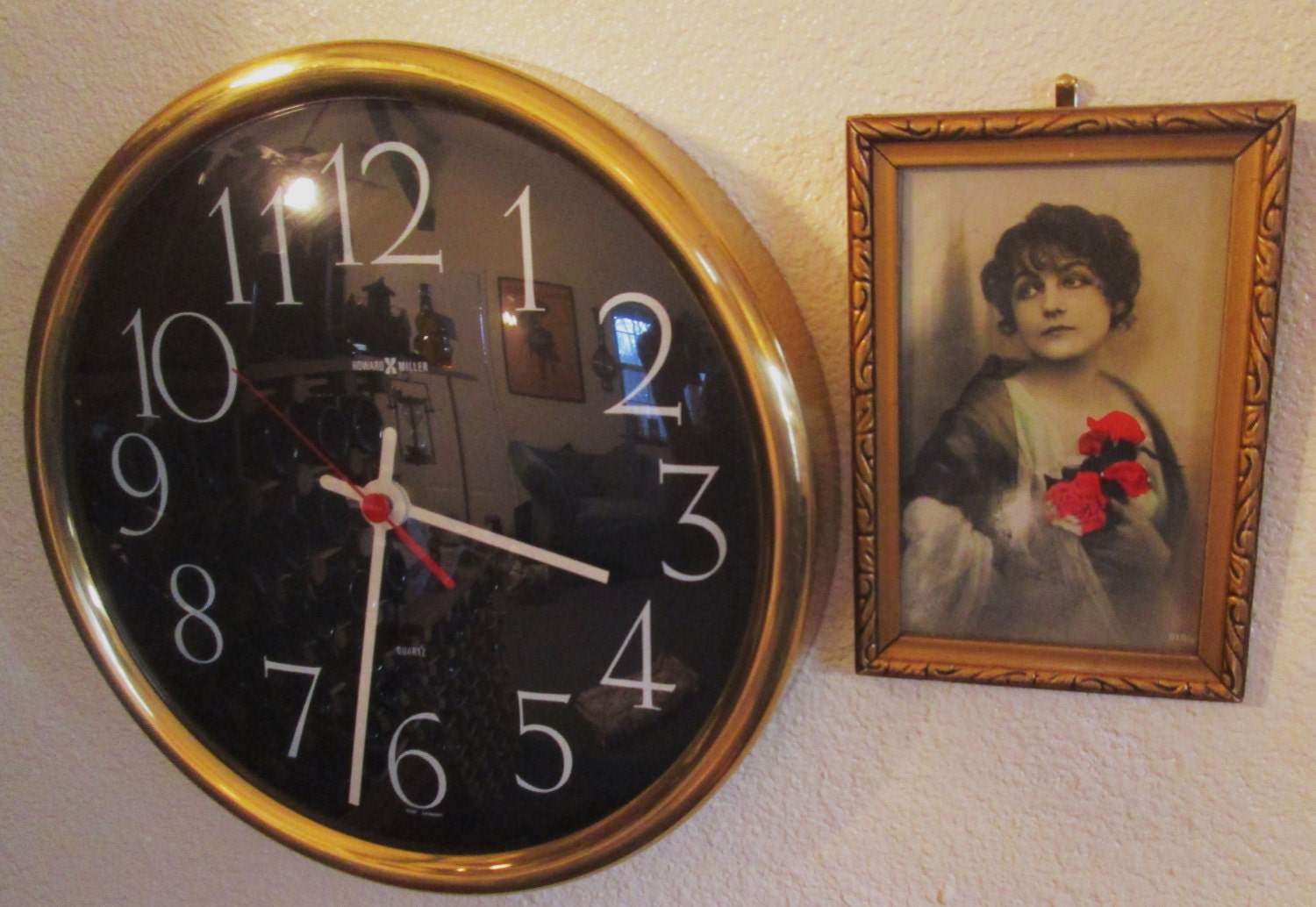 vintage howard miller office wall clock made in west germany