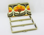 8 1/4 x 3 inches( 21 x 8 cm) - Large Antique Brass Clutch Purse Frame  (LCF-FLAT-10) - 3 Pieces