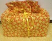 Popcorn - Tissue Cover - Cotton - Home Decor - Furnishings - Accesories - Theatre Decor - Novelty - Popcorn Print Tissue Box Cover Case