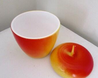 Vintage Apple Jelly Jam Jar Milk Glass