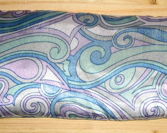 Eucalyptus Flax Heating Pad Silk Eye Pillow Lavender Eye Pillow Natural Herbal HEADACHE Remedy Sleep Aid Eye Depuffer Yoga Gift Blue Pucci