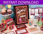 Willy Wonka Birthday DIY Printable Kit - INSTANT DOWNLOAD