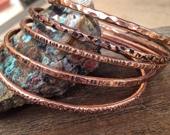 Copper Bangles set of 5