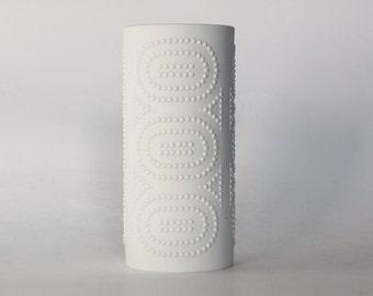 Modernist White Bisque Vase With  Dots Motif - Nanny Still for Heinrich