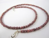 Mauve Stone Look Interchangeable Farfalle Bead Strand for Multi Strand Necklace