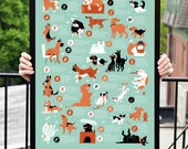 Dogs Alphabet Kids Poster