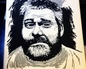 Walking Dead - 8x8 Canvas Painting of Robert Kirkman - Image Comics Zombie Creator