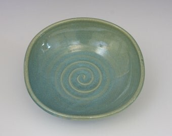 Sea green squared bowl - holds 16 oz