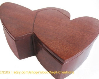 Walnut Double Heart Box