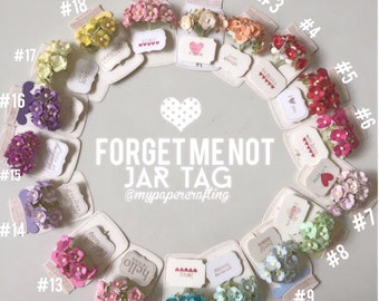 flower jar tags for card / scarpbooking or gift tag for wedding