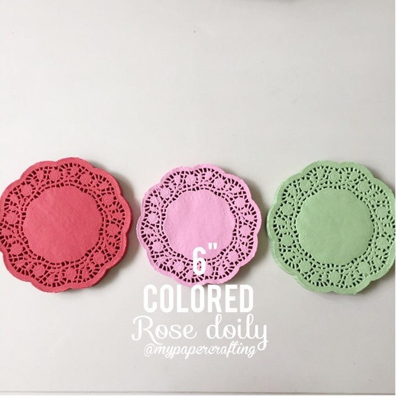inches colored Doily paper for Scrapbooks, card making, wedding ...