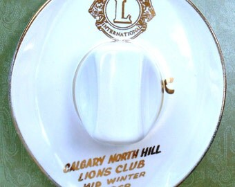 LIONS INTERNATIONAL Calgary North Hill Lions Club Mid Winter Medicine Hat 22K Gold1968